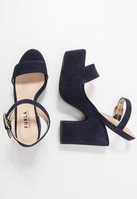 Furla - ZONE WEDGE  - High heeled sandals - oceano - 3