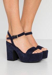 Furla - ZONE WEDGE  - High heeled sandals - oceano - 0