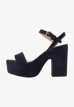 ZONE WEDGE  - High Heel Sandalette - oceano