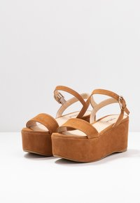 Furla - ZONE WEDGE - Platform sandals - cognac - 4