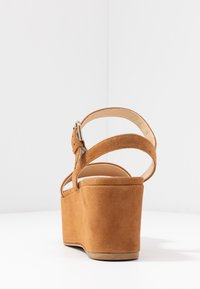 Furla - ZONE WEDGE - Platform sandals - cognac - 5