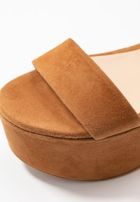Furla - ZONE WEDGE - Platform sandals - cognac - 2
