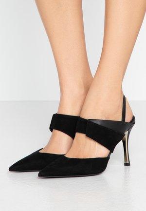 FURLA FOLD SLING-BACK - Zapatos altos - onyx