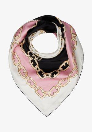 TORTONA CARRE SCARF - Foulard - nero/rosa