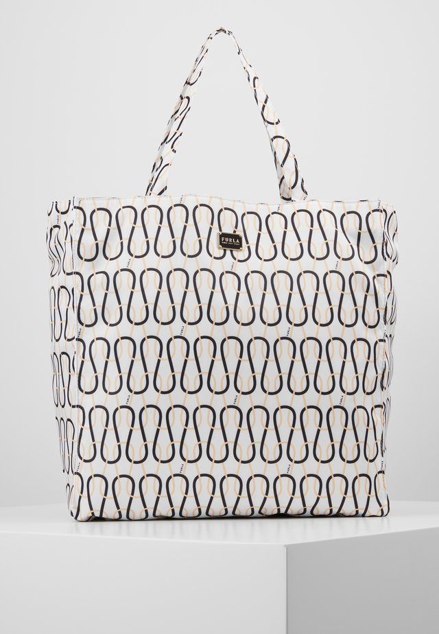 DIGIT TOTE - Shopping bag - talco/nero/crema