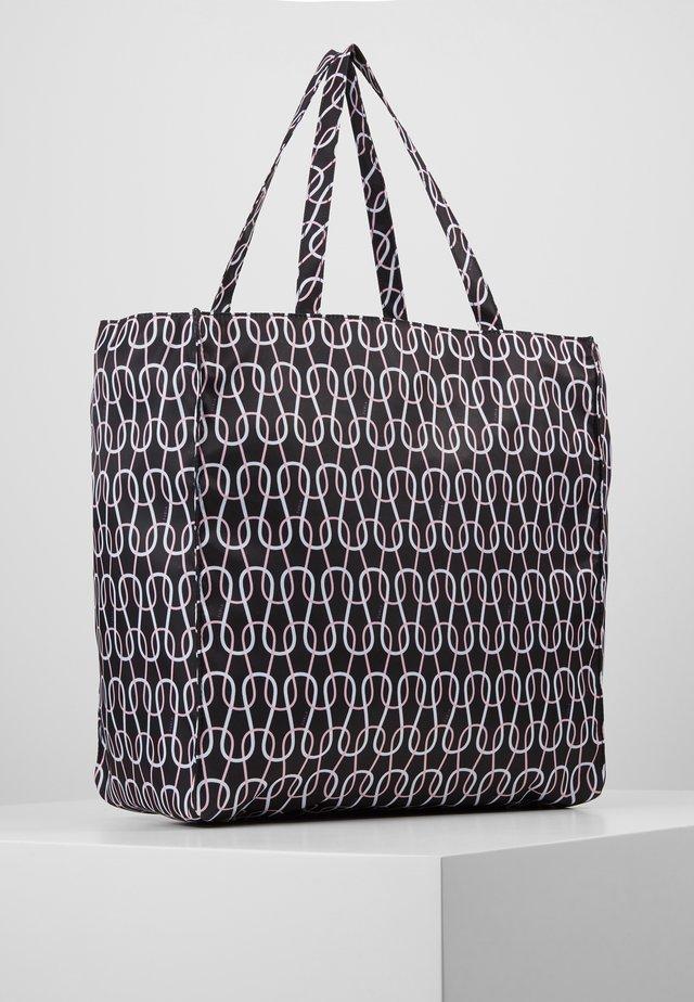 DIGIT TOTE - Shoppingväska - nero/talco/rosa