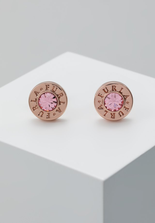CRYSTAL EARRING MEDALLION - Pendientes - camelia