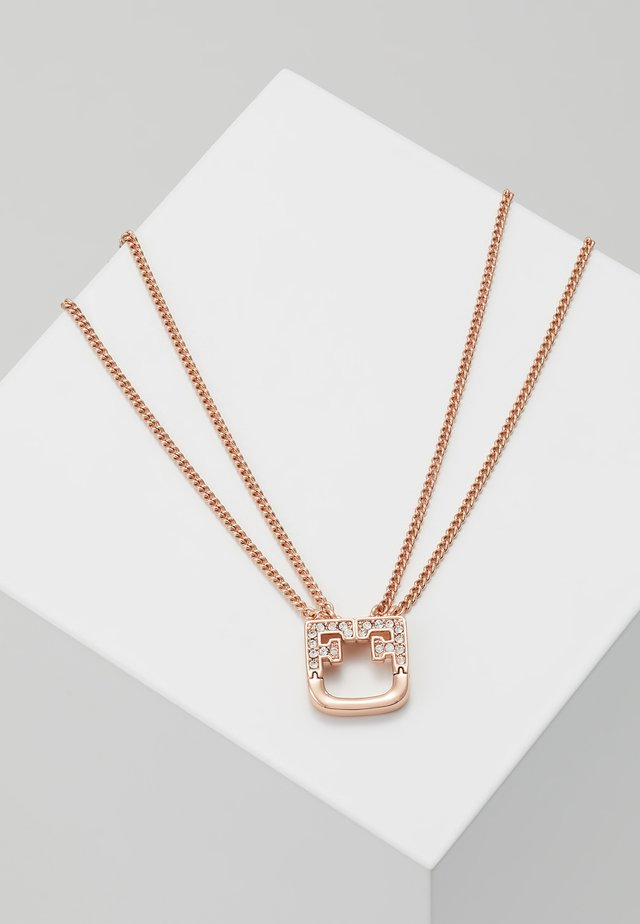 SHIELD NECKLACE - Halsband - rosa