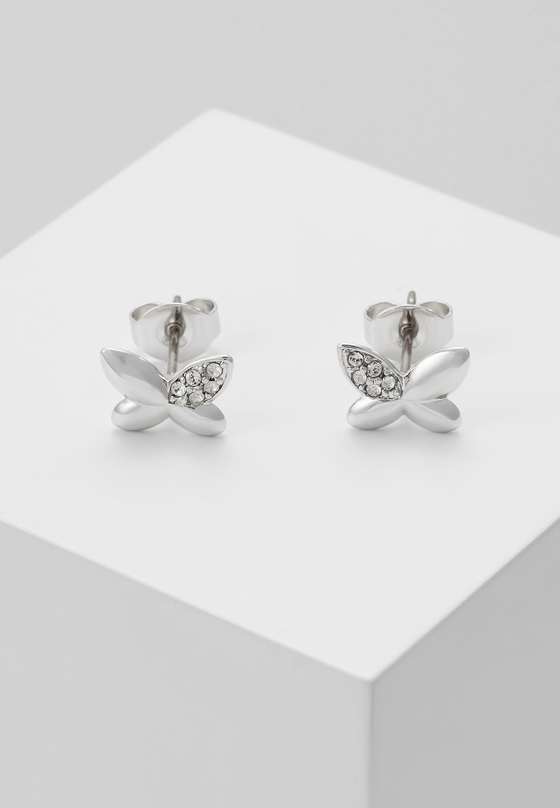 Furla - FLOWER EARRING BUTTERFLY - Boucles d'oreilles - silver-coloured