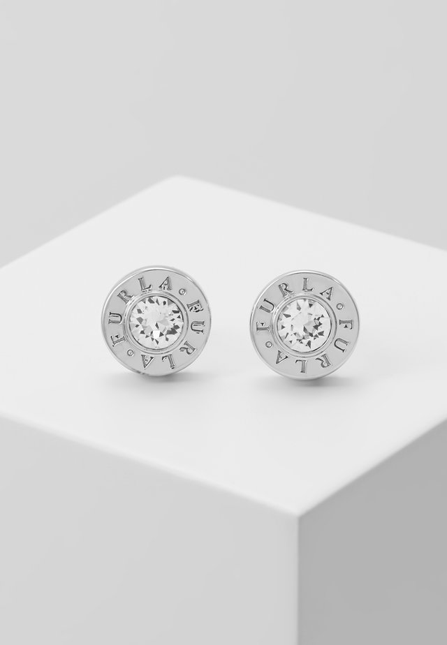 CRYSTAL EARRING MEDALLION - Pendientes - silver-coloured