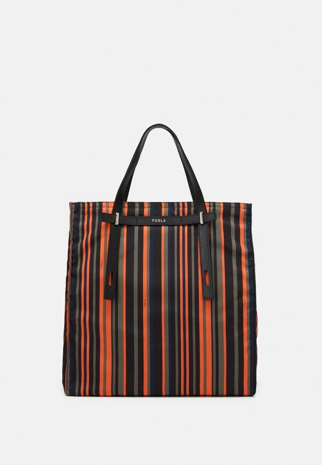 MAN GIOVE SHOPPER TESSUT UNISEX - Shopping bag - toni orange