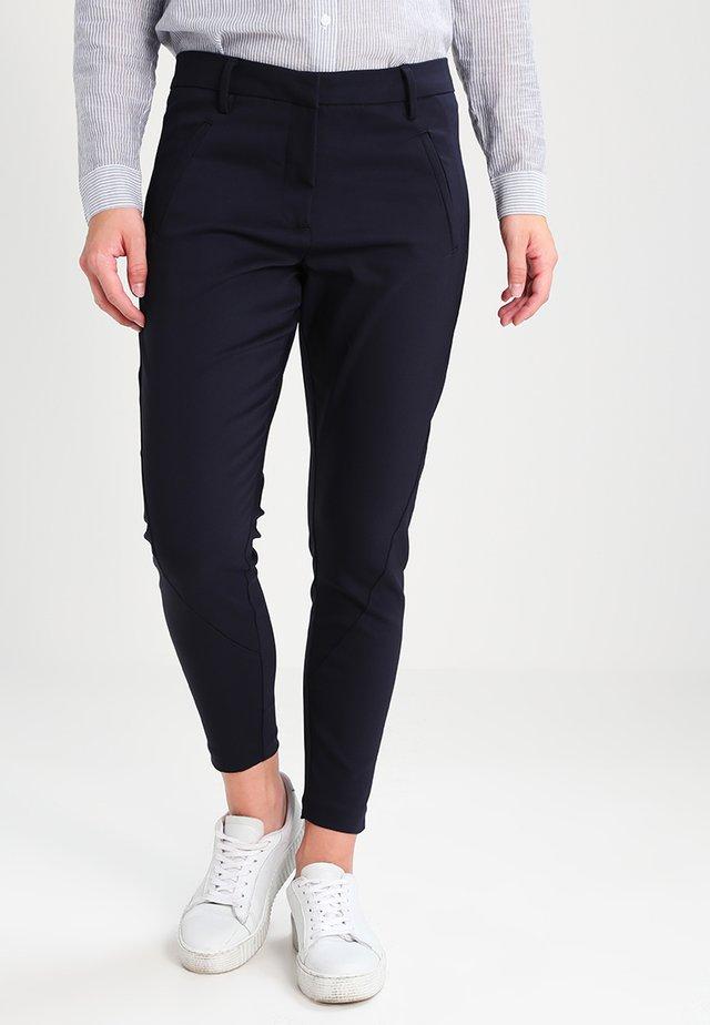 ANGELIE ZIP - Trousers - navy