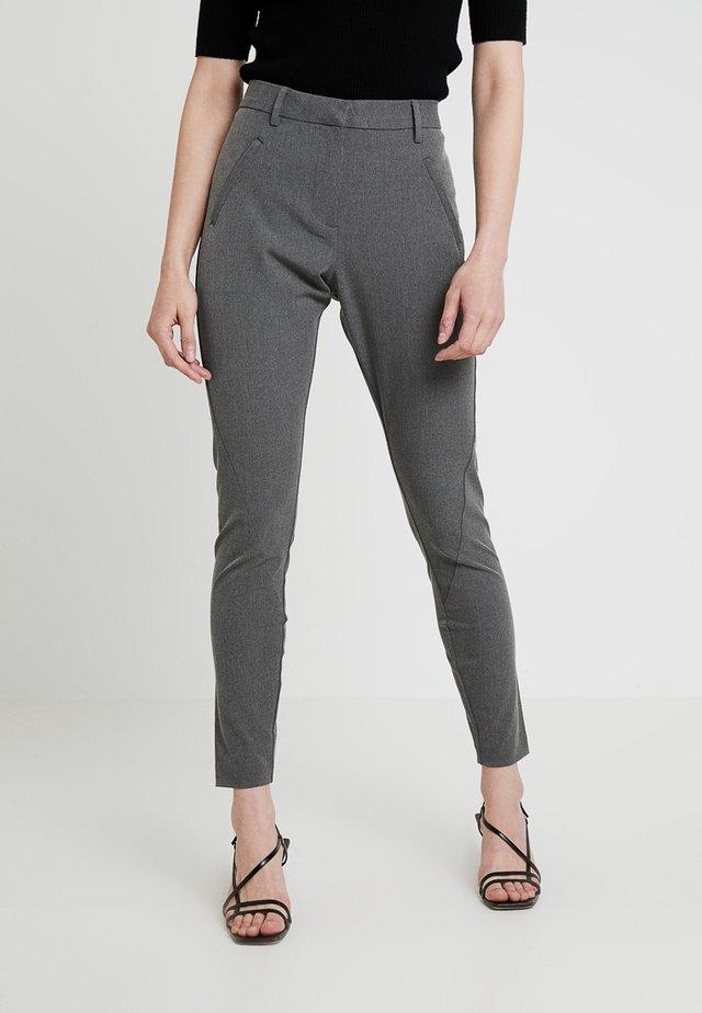 ANGELIE - Trousers - grey melange