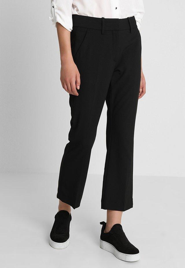 CLARA CROP - Trousers - black glow