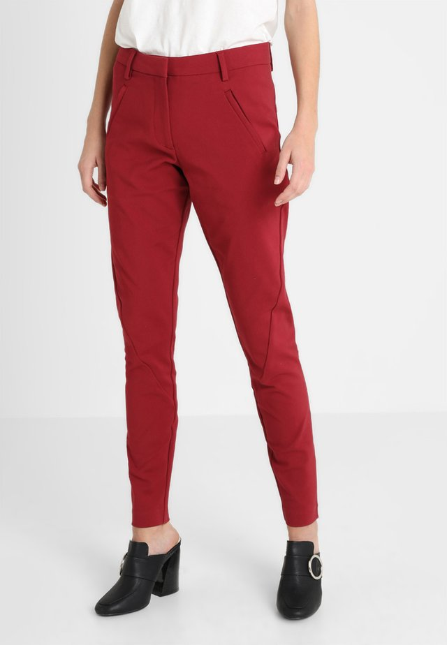 ANGELIE - Spodnie materiałowe - red