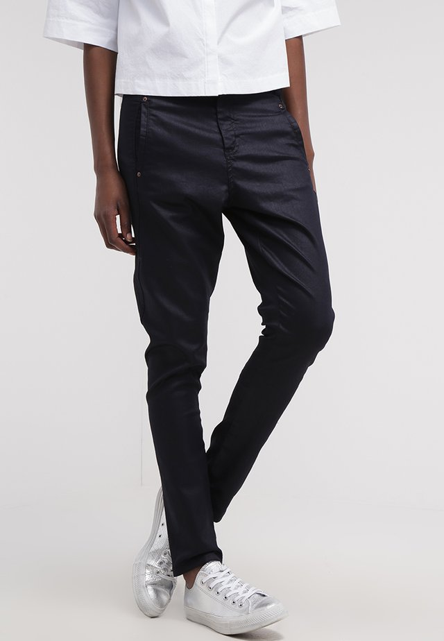 JOLIE - Trousers - navy coated