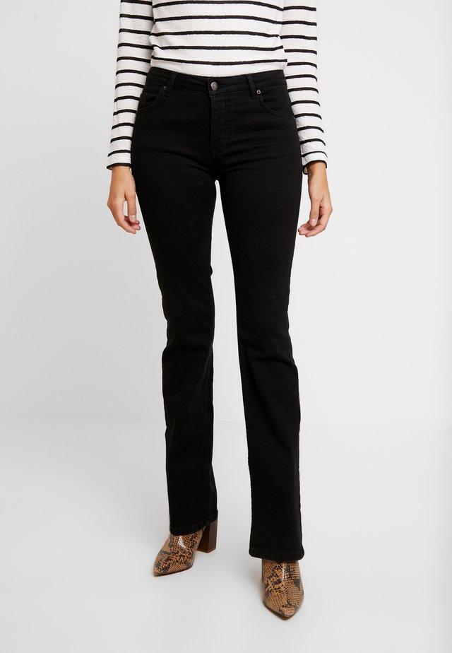 Bootcut jeans - black auto