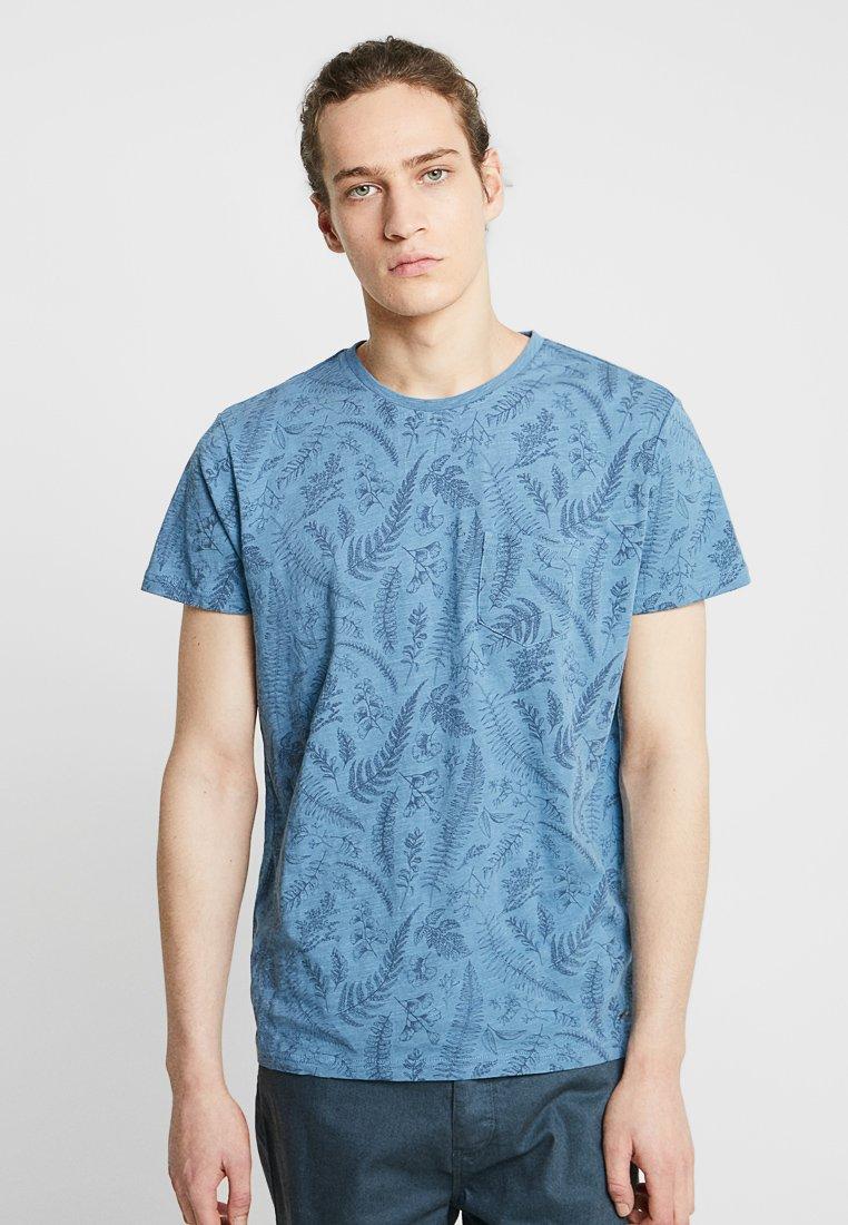 Funky Buddha - Print T-shirt - light indigo