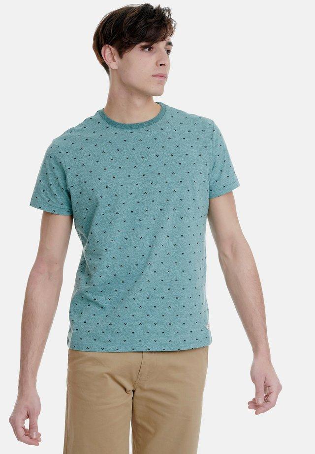 Print T-shirt - dark aqua