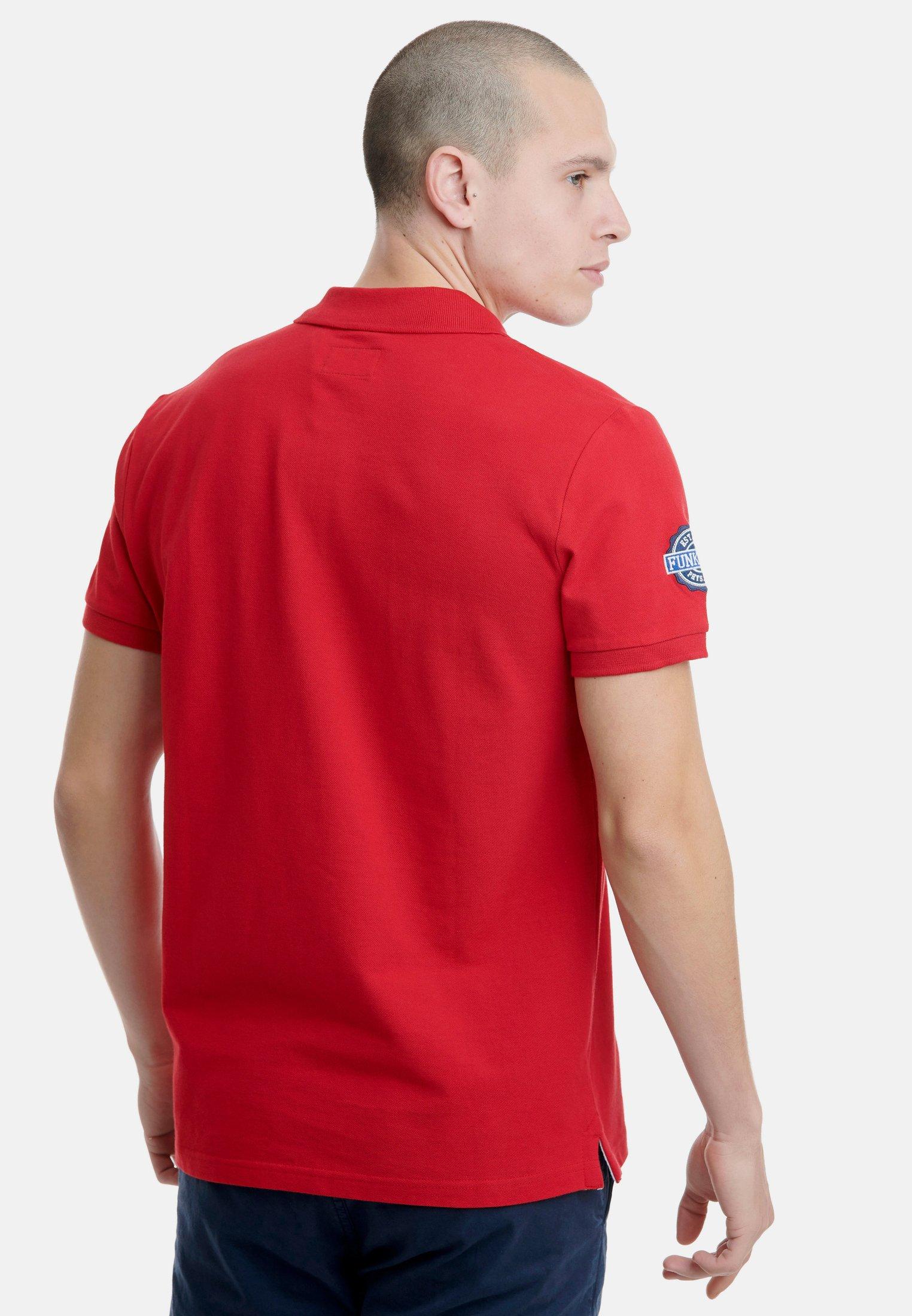 Funky Buddha Koszulka polo - red