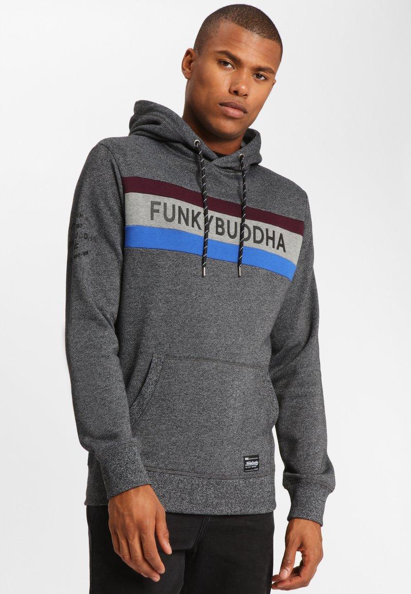 Funky Buddha - Bluza z kapturem - dark gray