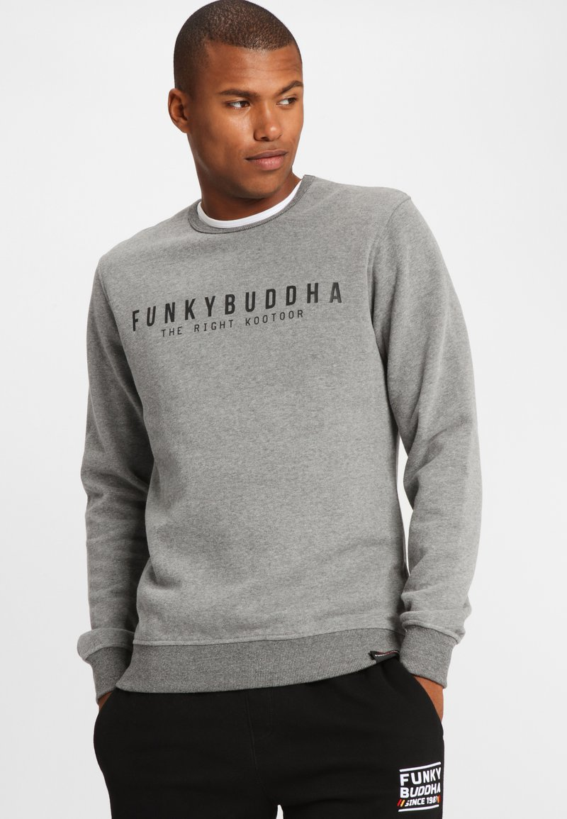 Funky Buddha - THE RIGHT KOOTOOR - Bluza - mottled grey
