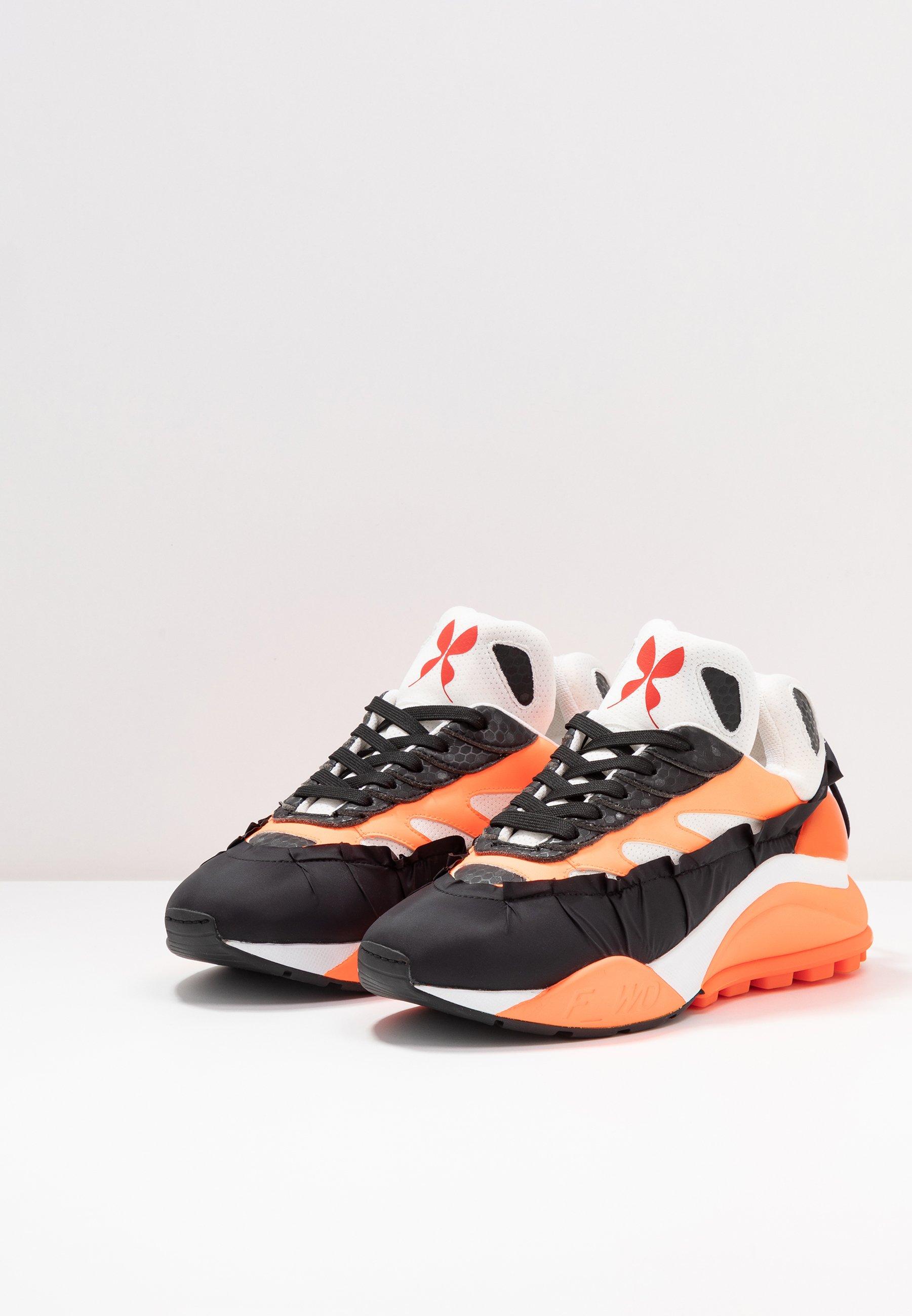 F_WD Sneakersy niskie - black/white/fluo orange
