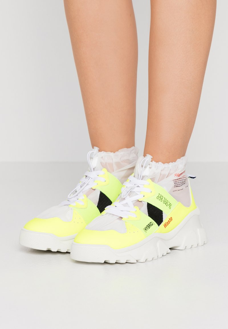 F_WD - High-top trainers - fluo yellow/transparent
