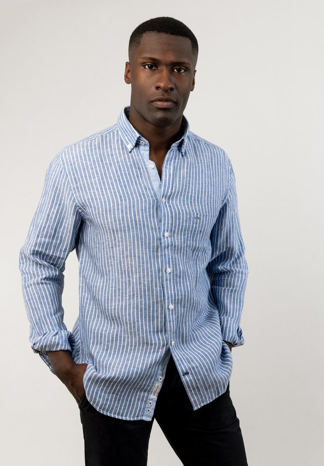 CLASSIC  - Shirt - white navy stripe