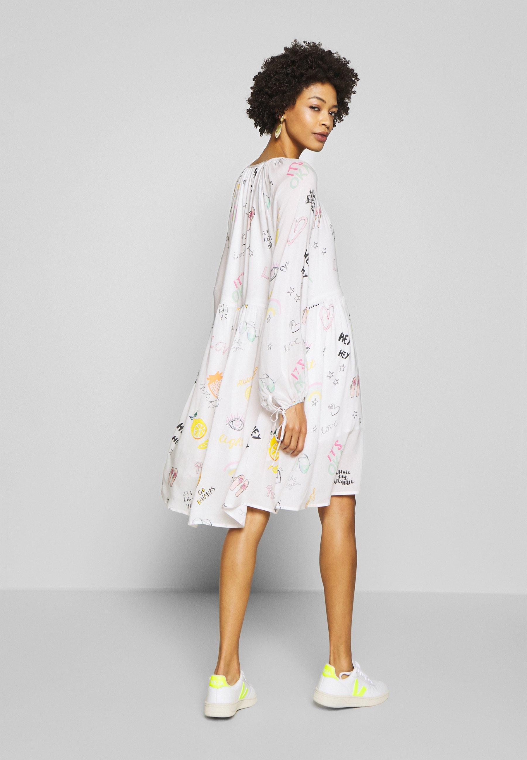 Grace DRESS ALLOVER FRUITS - Sukienka letnia - creme