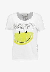 Grace - HAPPY - T-Shirt print - white - 3