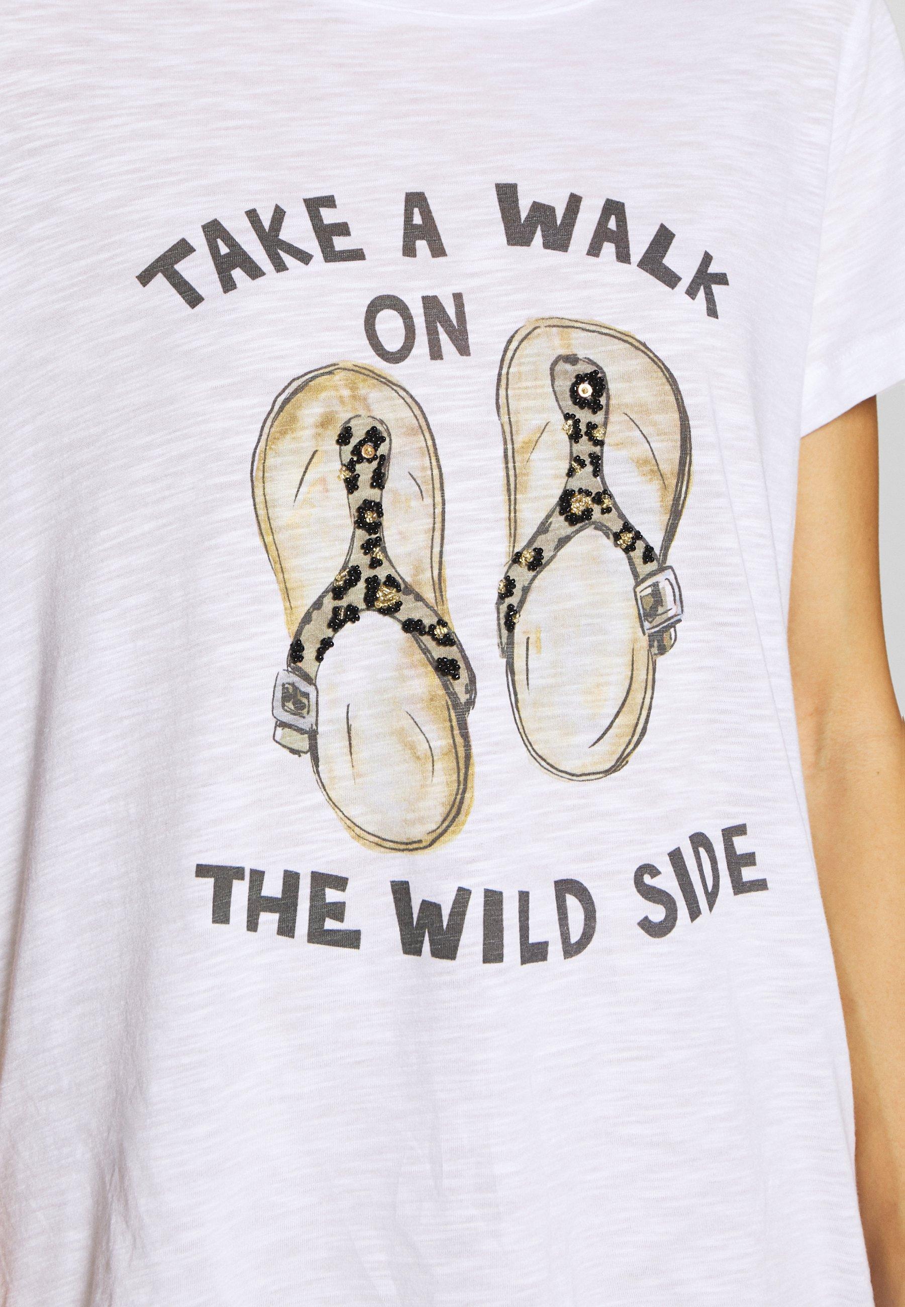 Grace TAKE A WALK - T-shirts med print - white
