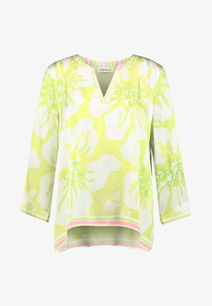 BIG FLOWERS - Blouse - lemon