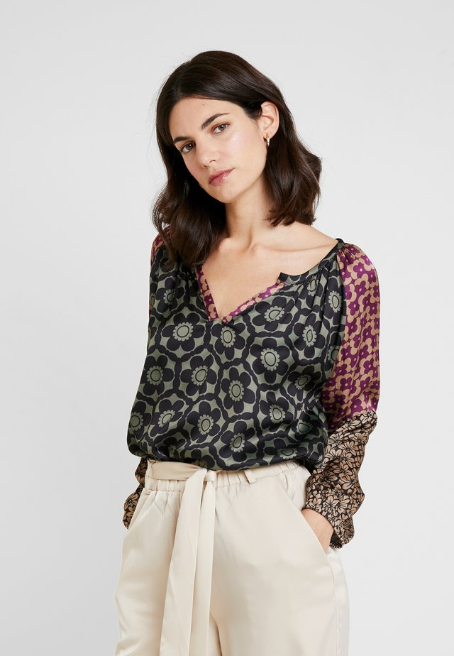 GEOMETRIC PATCH - Blouse - darkgreen