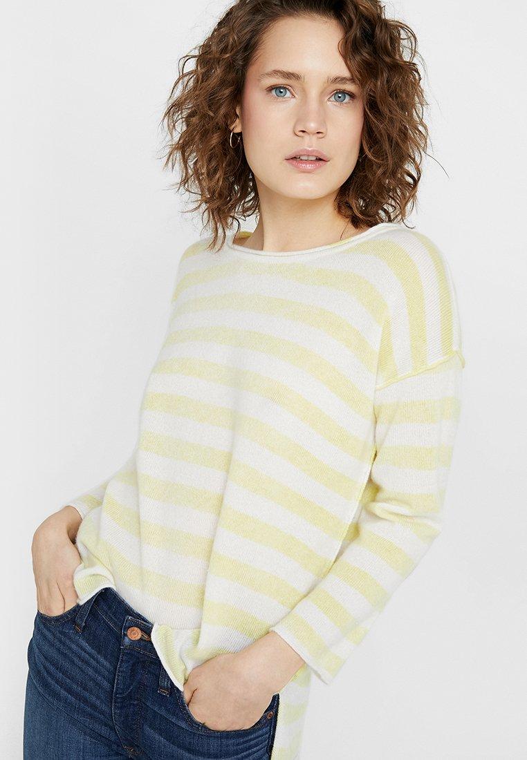 Grace - STREIFEN - Pullover - lemon