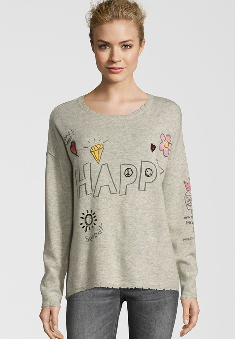 Grace - HAPPY - Jumper - light grey
