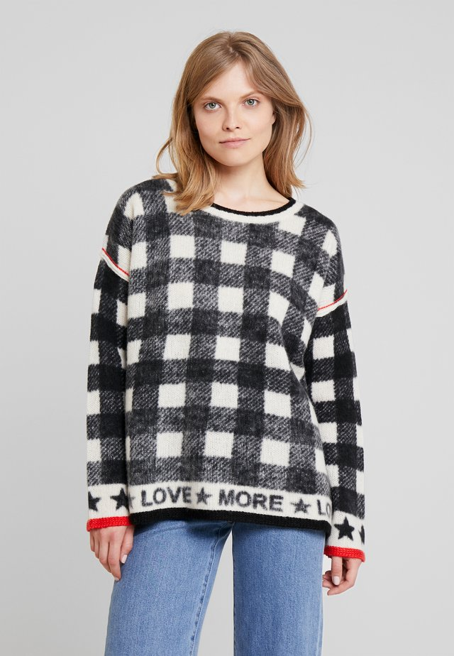 MORE LOVE - Strickpullover - black