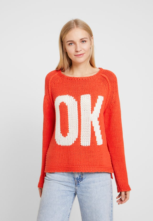 OK - Strickpullover - orange