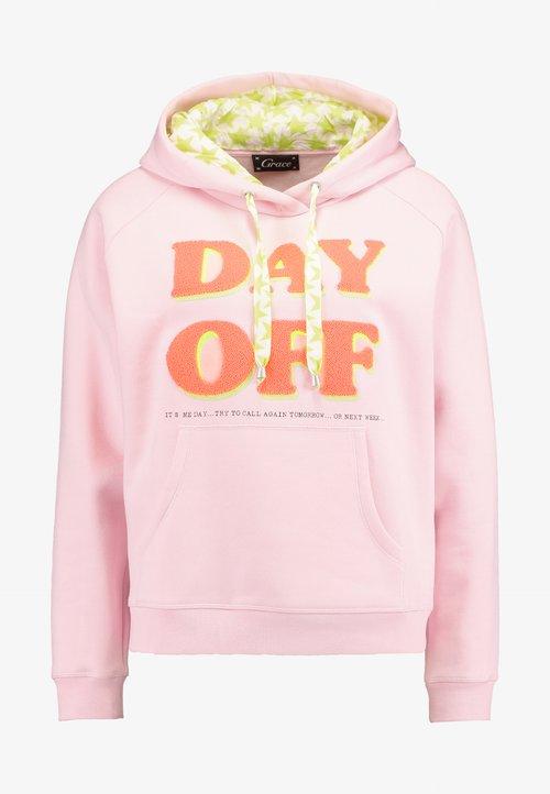 Grace DAY OFF - Bluza z kapturem - pale rose Odzież Damska FBAE-JT4 gorąca wyprzedaż w 2019 roku