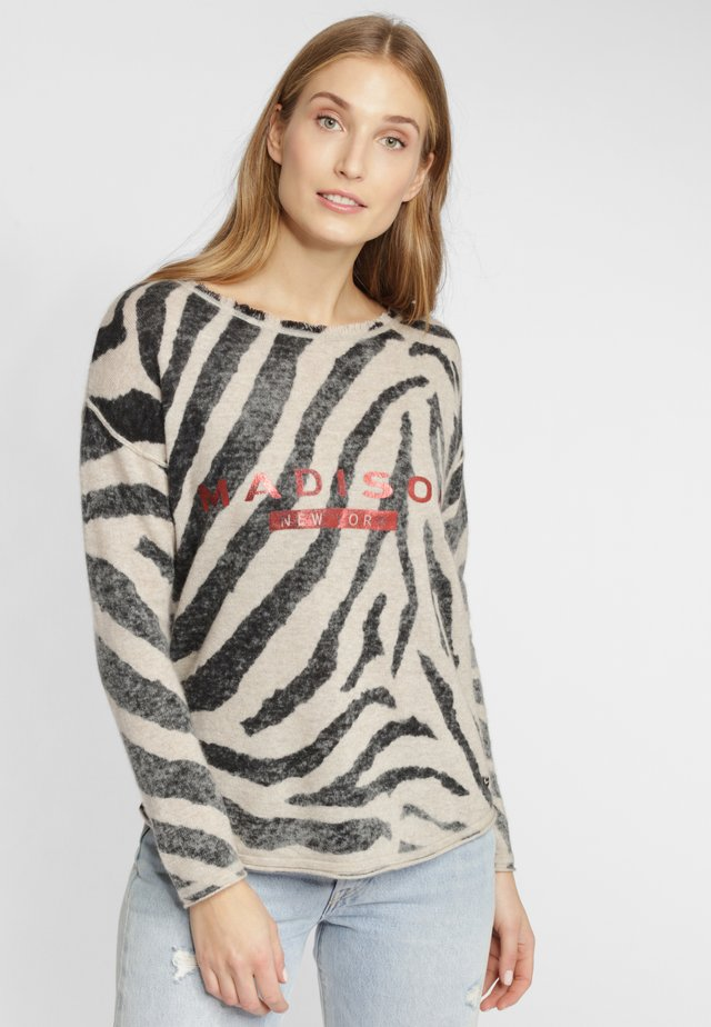 MIT ANIMAL-PRINT - Sweater - black