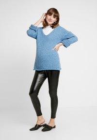 GAP Maternity - FAUX LEGGING - Leggings - true black - 2