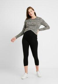 GAP Maternity - ESSENTIAL CROP - Leggings - true black - 1