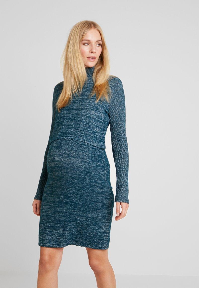 GAP Maternity - COZY NURSING DRESS - Stickad klänning - green pine
