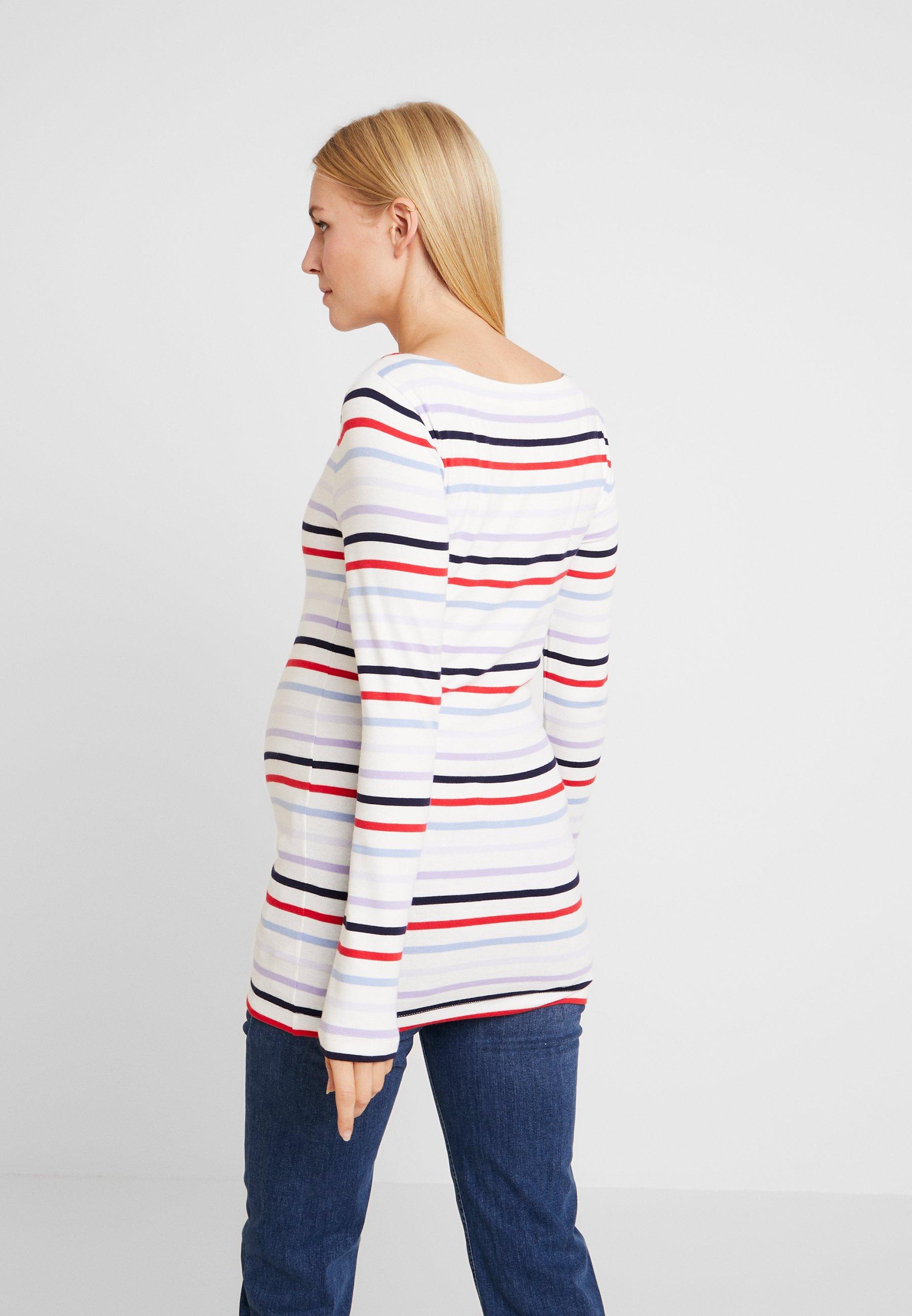 GAP Maternity MODERN BOATNECK - Bluzka z długim rękawem - multi-coloured