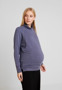 GAP Maternity - MOCK NURSING - Sweatshirt - navy heather - 0