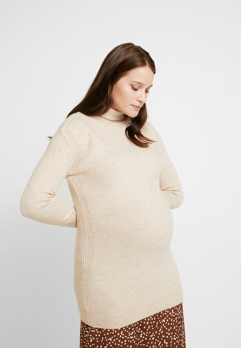 GAP Maternity - COZY FUNNEL NECK - Stickad tröja - light heather