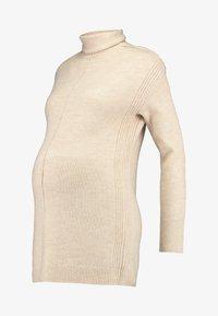 GAP Maternity - COZY FUNNEL NECK - Stickad tröja - light heather - 3