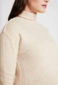 GAP Maternity - COZY FUNNEL NECK - Stickad tröja - light heather - 4
