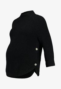 GAP Maternity - NURSING SIDE SLIT - Stickad tröja - true black - 4
