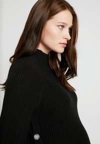 GAP Maternity - NURSING SIDE SLIT - Stickad tröja - true black - 3